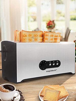Aigostar Sunshine 4 Slice Long Slot Toaster
