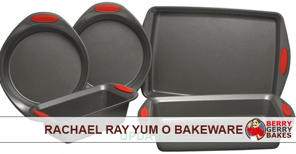 Rachael Ray Yum O Bakeware Set (Loaf Pan, Muffin Pan, Cookie Sheet, and Cake Pan) 1