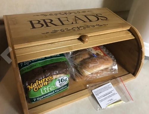 cookbook people classic wood bread bin