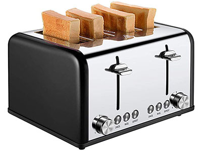 Cusibox 4-Slice Extra Wide Slots Toaster