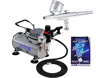 Master Airbrush Multi-Purpose Gravity Feel Dual Action Airbrush Kit