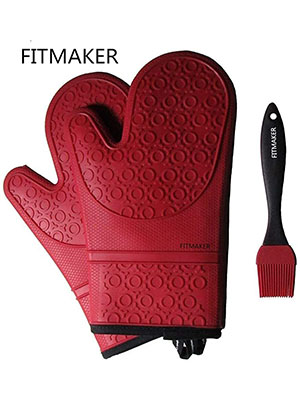 The Triumphant Chef Silicone Oven Mitts