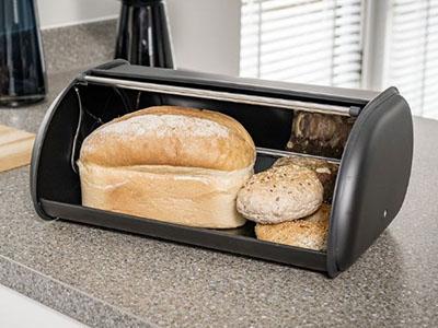 image of bread in bread bin