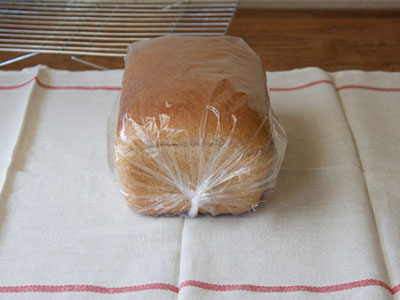 image of bread wrapped in plastic bag