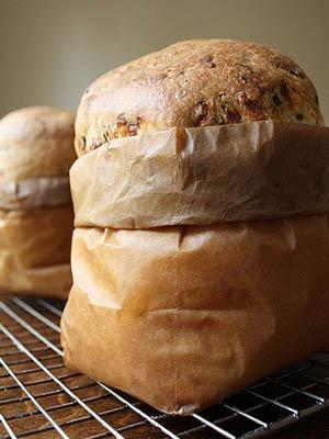 italian bread in paper bag