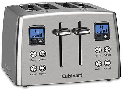 Cuisinart Countdown 4-Slice Stainless Steel Toaster