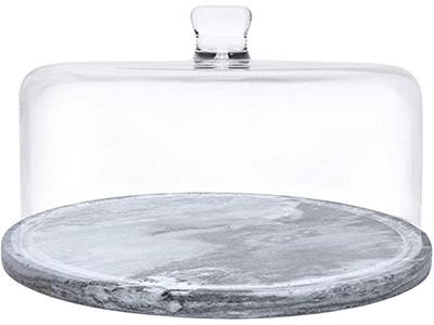 Galashiels Marble Cake Stands with Dome
