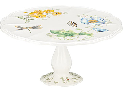 Lenox Butterfly Cake Plate with Lid