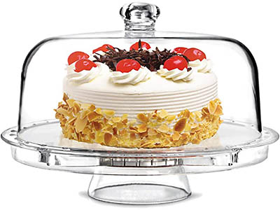 Tebery Acrylic Cake Stand with Dome