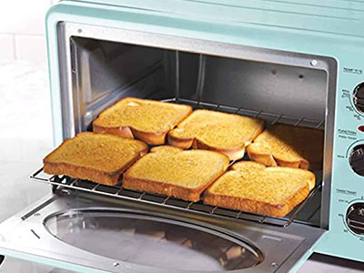 bread in a toaster oven