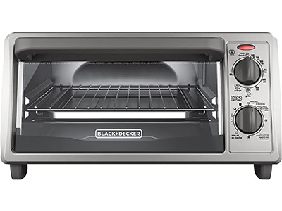 BLACK + DECKER 4-Slice Countertop Toaster Oven TO1322SBD