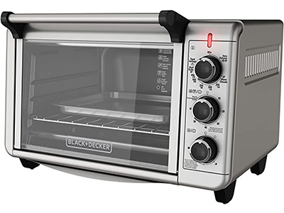 BLACK + DECKER TO3210SSD 6-SLIDE Convection Countertop Toaster Oven