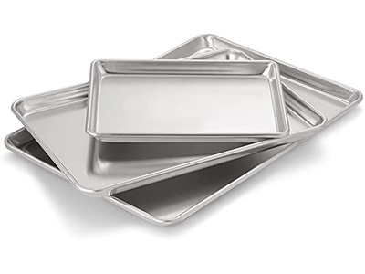 Best Multi-Size Set: Artisan Professional Classic Aluminum Baking Sheet Pan Set