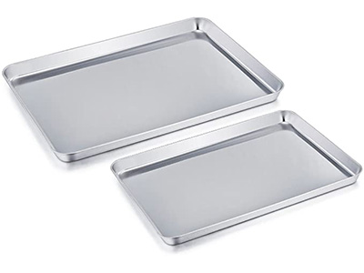 Best Stainless Steel: TeamFar Pure Stainless-Steel Cookie Sheets (Set of 2)
