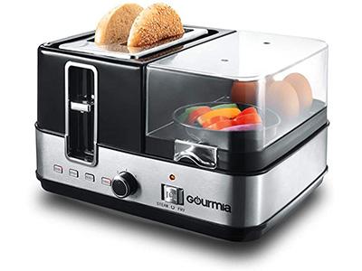 Gourmia GBF370 Slice Toaster- Egg Cooker and Poacher