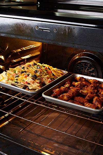 food in oven