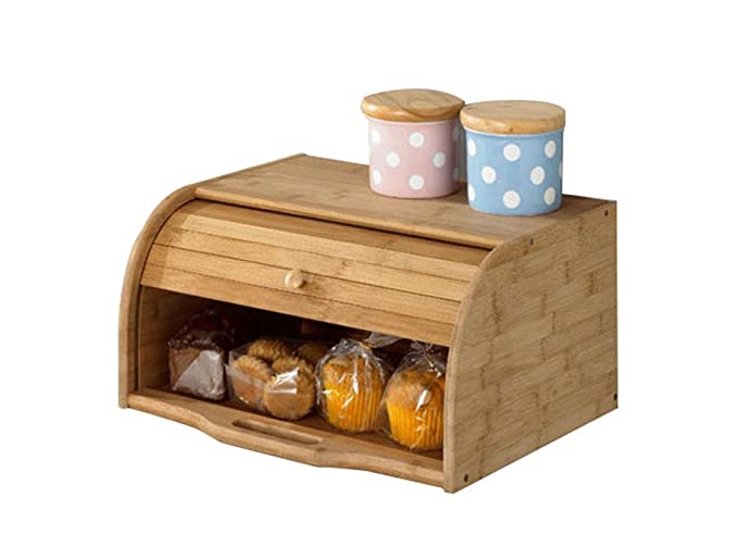Betwoo Natural Wooden Bread Box