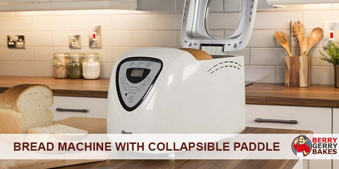 bread machine with collapsible paddle