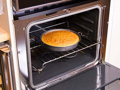 image of cake in a toaster oven