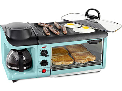 Nostalgia BSET300AQ Retro 3-in-1 Family Size Breakfast Station