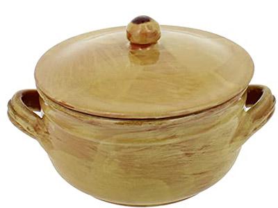 French Stoneware Lidded Jar