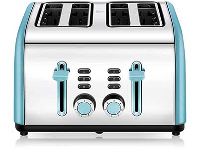 Cusinaid 4-Slice Stainless Steel Toaster