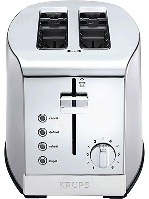 KRUPS KH732D50 Stainless Steel 2 Slice Toaster